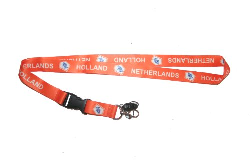 Netherlands Holland Knvb Logo Fifa World CUP Lanyard Keychain Passholder .. 24 Inches Long.. New