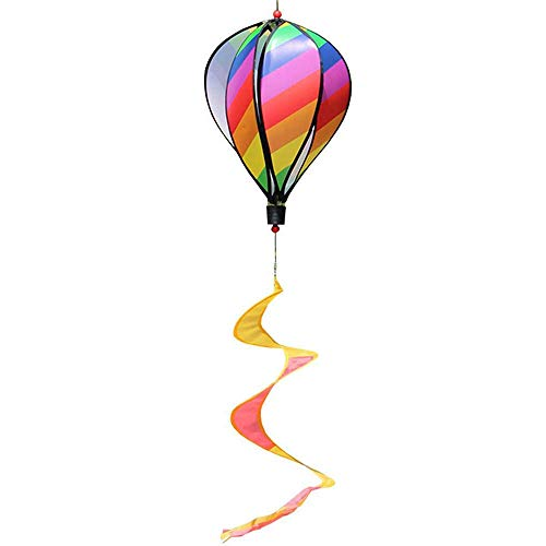 Spiral Windsock - DIY Rainbow Hot Air Balloon Windsocks with Spiral Windmills Ceiling Decor Lanterns for Home Party Birthday Garden