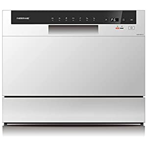 Best Epic Trends 31YA3hrb2YL._SS300_ Farberware Professional FCD06ABBWHA Compact Portable Countertop Dishwasher with 6 Place Settings and Silverware Basket…