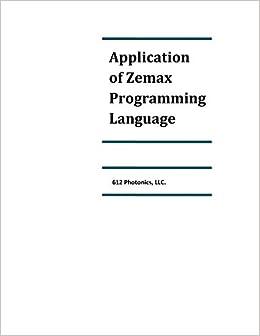 Application of Zemax Programming Language: 612Photonics