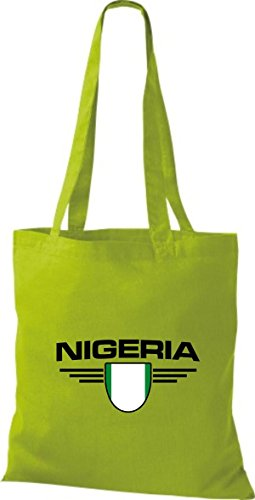 Bolsa Tela Nigeria Kiwi Países Emblema Shirtstown De Land AqOEdxO6w