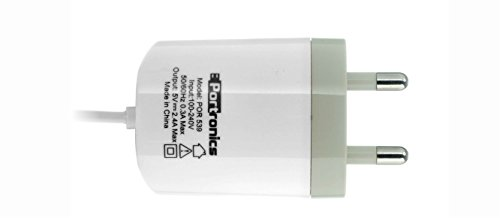 Portronics POR 539 2.4A Adapter with Micro USB Cable  White
