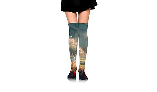 High Elasticity Girl Cotton Knee High Socks Uniform Black And White Tulips Women Tube Socks