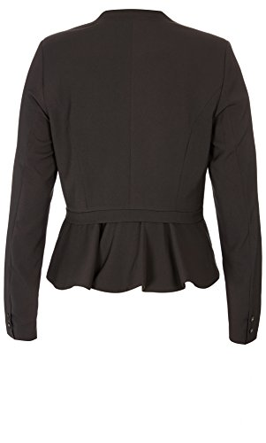 Designer Plus Size JKT CHEEKY PEPLUM - Black - 18 / M | City Chic