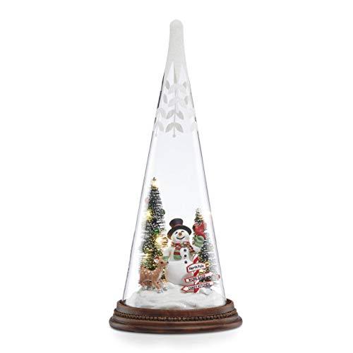 Lenox 887054 Light-Up Snowman Pals Glass Tree