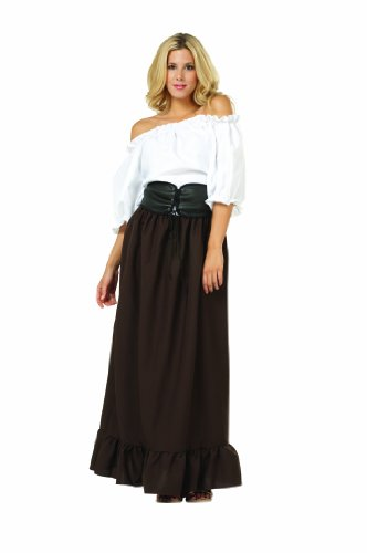 RG Costumes Women's Renaissance Wench, Brown, One Size (Historical Halloween Costume Ideas)