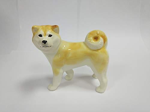 Akita Porcelain - Akita inu faience figurine, handmade, porcelain dog figurine
