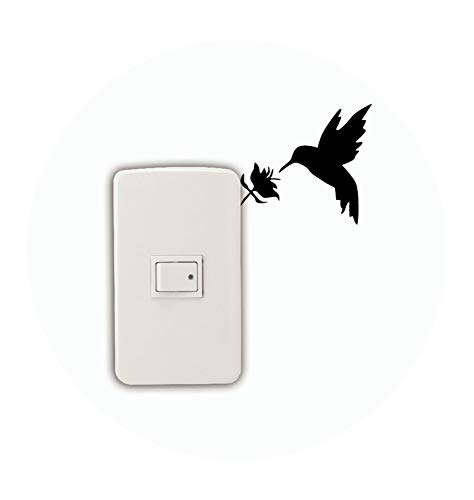 Natural Style Hummingbird Switch Sticker Bird L Wall Stickers for Kids Rooms Bedroom Home Decor,Pink ()