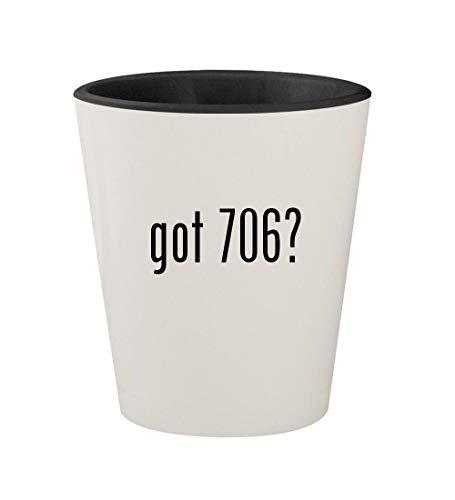 got 706? - Ceramic White Outer & Black Inner 1.5oz Shot Glass (Easy 706 Scan)