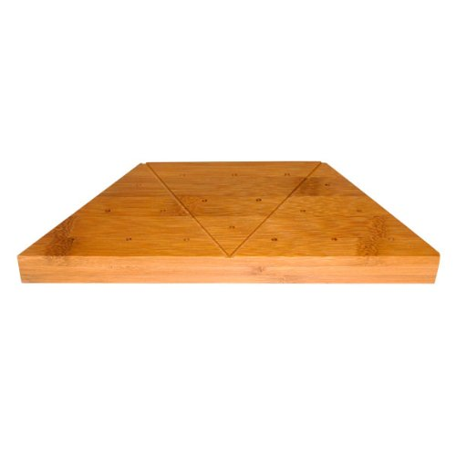 Triangular Bamboo Skewer Display (Case of 5), PacknWood - Decorative Food Display Stand Holds 18 Bamboo Skewers, Picks (9.25
