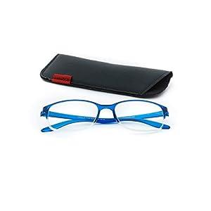 Dr.Harmann's Rectangular Reading Glasses (Blue) (Library 8 +1.00)