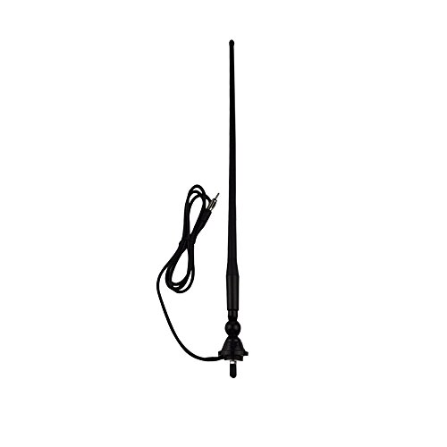 Herdio Waterproof Marine Radio Antenna Rubber Duck Dipole Flexible Mast FM AM Antenna for Boat Car ATV UTV RZR SPA-Black ()