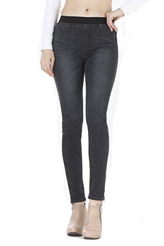 WeHeart Mascara Women Skinny Jeans Jeggings Pants Elastic Waist Black-Jean Medium by WeHeart (Image #7)