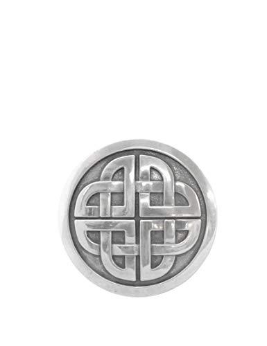 Lee River Goods Co - Men's Snap-on Belt Buckle - Celtic Eternal Knot (Boots Celtic Mens)