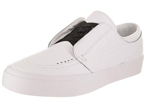 NIKE Mens SB Zoom Janoski HT Slip Skate Shoe White/White/Black