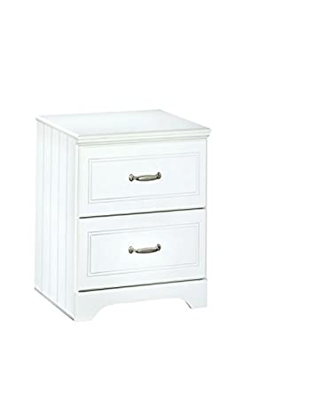 Ashley Furniture Signature Design   Lulu Nightstand   2 Drawers   Casual  Styling With Crisp Finish
