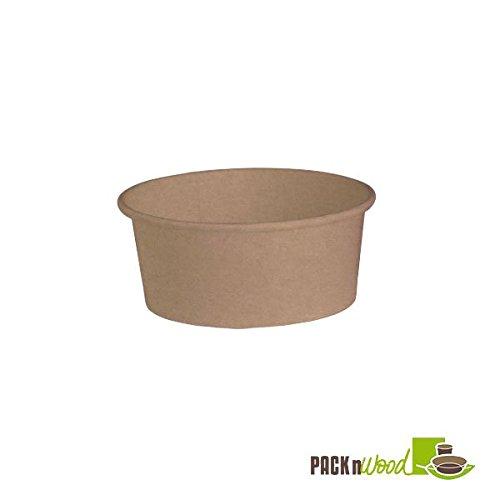 Packnwood 210PC751K 26 oz. Round Kraft Salad Bucket