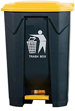 SHYPwM 屋外のゴミ箱カバー付き大型ペダルボックス屋外ゴミ箱厚手のプラスチック古紙入れビン商業コミュニティホテル屋外リサイクルビン -ガベージコレクションシリーズ (サイズ さいず : 80L)