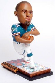Miami Dolphins Ricky Williams Ticket Base Forever Collectibles Bobblehead (Head Dolphins Bobble Miami)