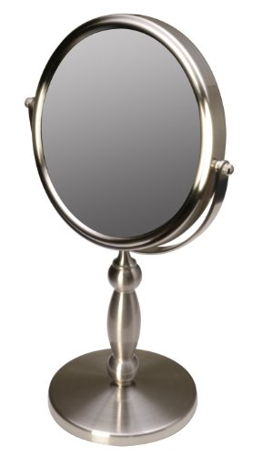Floxite Dual sided 1x and 15x Vanity Mirror, Brushed -