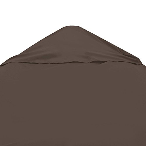 Triprel Inc. Single Tier 10 x 10 COFFEE Gazebo Top Canopy Replacement 200g Outdoor Backyard Patio Cover 10ft x 10ft Sunshade