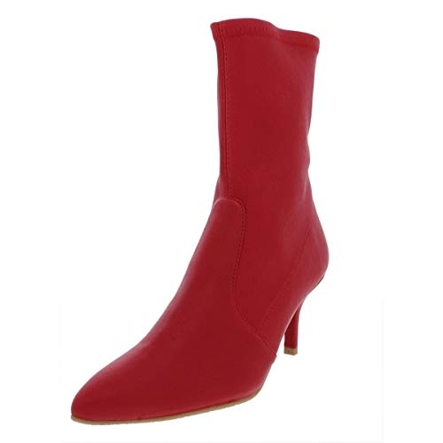 Stuart Weitzman Womens Cling Leather Pointed Toe Booties Red 10 Medium (B,M)