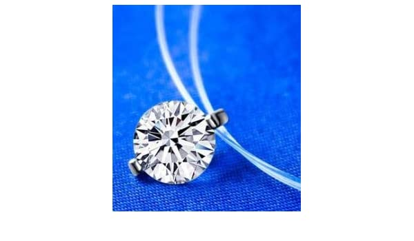 Sterling Silver Dazzling Zircon Necklace Women Simple Crystal Pendant