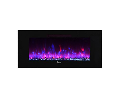 Caesar Fireplace Luxury Linear Wall Mount Recess Backlight Freestanding Multicolor Flame Electric 50