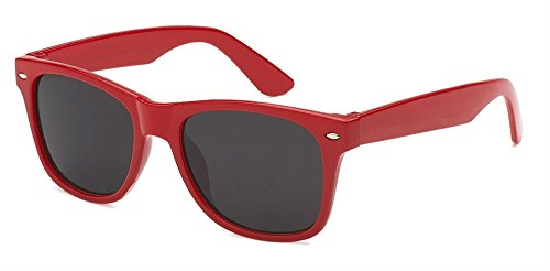 Kids Childrens 80's Classic Retro Sunglasses - Variety of styles and colors - Colour Red Sunglasses