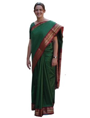 sari indian saree pre pleated for a authentic look for adults fit