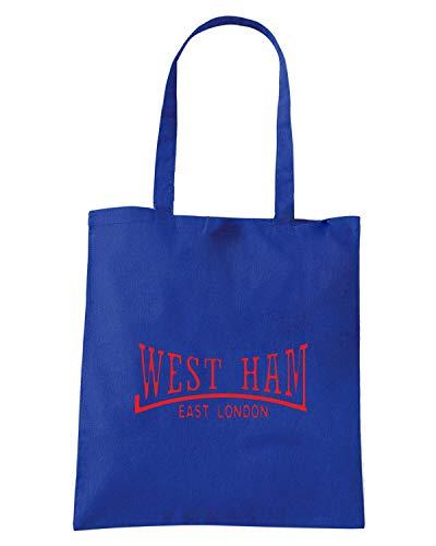 Borsa Shopper Royal Blu OLDENG00825 WEST HAM EAST LONDON