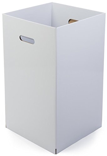 Displays2go Cardboard Dump Bin, Sold in Sets of 6, Corrugated Cardboard, Floor Standing - White Finish (CTRWHRDB)