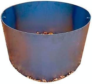 Steel Fire Pit Campfire Ring Liner Metal Insert 18 Deep x 30 Diameter