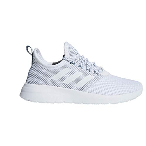 adidas Women's Lite Racer Reborn Running Shoe, White/White/raw Grey, 7.5 M US