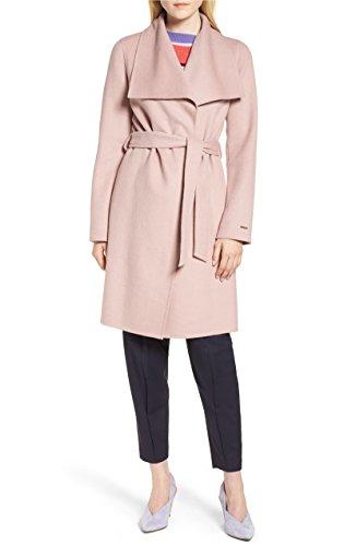 Women's Tahari Ellie Double Face Wool Blend Wrap Coat, Powder Pink (XS)