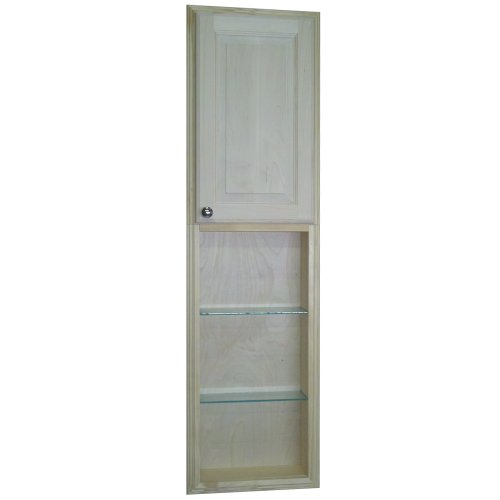 WG Wood Products Recessed Manhattan Pantry Storage Cabinet with 30'' Shelf & 3.5'' Deep, 54'', Unfinished by WG WOOD GROUP