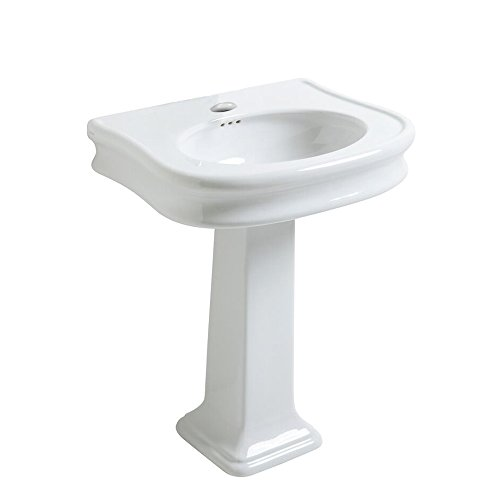 China series large single bowl single hole  drill bath sink  with pedestal