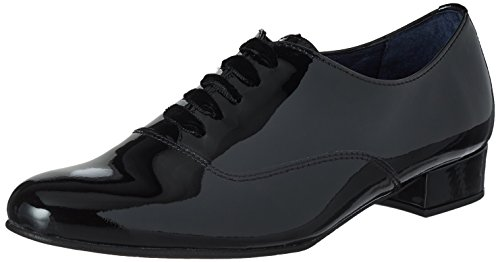 Oxford Donna Scarpe Black Nero Julie 01 Di Stringate Blu Pinto xwXF6vn