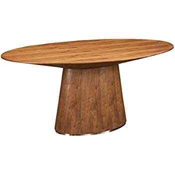 oval dining table with leaf shaped cloth in india room set this item world modern design kc walnut