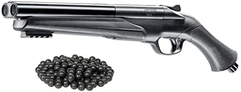 T4E UMAREX HDS .68cal High Power 16 Joules HSA Custom Double Barrel Paintball Rubberball Marker w Free 25 .68cal RubberBall