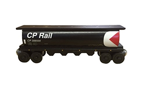 Canadian Pacific Cylinder Hopper - Wooden Toy Train by Whittle Shortline Railroad - Manufacturer - Railroad Hopper Car
