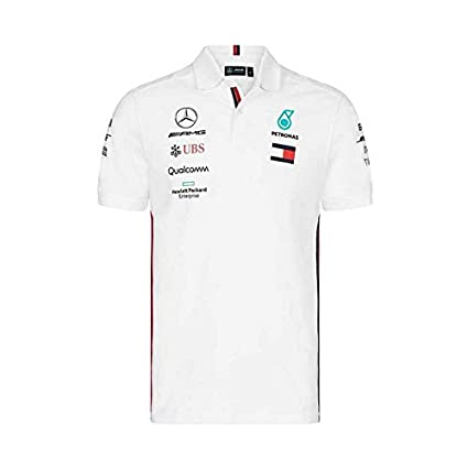 Mercedes AMG Petronas Motorsport 2019 F1 Mens Polo Shirt White S White