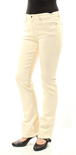 Lauren Ralph Lauren Womens Denim Shimmer Bootcut Jeans Yellow 10 ()