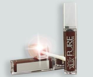 The Lano Company Illumination Lip Gloss with LED Press Button Light & Side Mirror, Crazin' Raisin, 0.3 Fluid ()