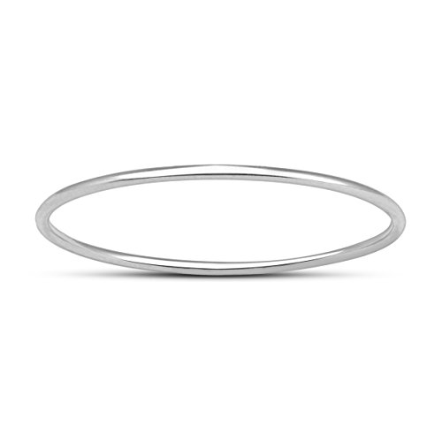 Skinny Thin Domed Stackable 14K White Gold Band (.75 mm) ()