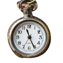 Lovely Retro Chain Motifs Carving Pocket Watch