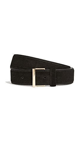 FRAME Women's Classic Suede Belt, Noir, Large by FRAME
