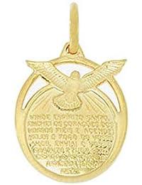 Pingente Espírito Santo Folheado - Dourado