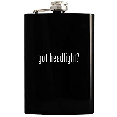 got headlight? - 8oz Hip Drinking Alcohol Flask, Black