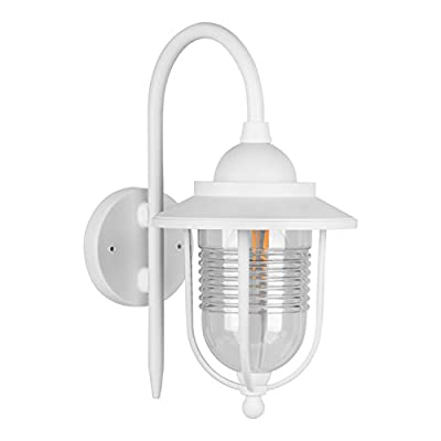 SPECILITE Outdoor Garage Lights LED Exterior Wall Lantern Fixtures, Special Handling Anti-Corrosion Durable Plastic Material, 12W Filament LED Lamp for Wall, Garage, Front Porch